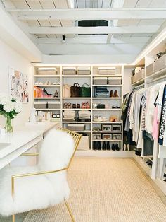 Fab walk-in closet/vanity. Practical without being ludicrously huge and OOTT. Fab walk-in closet/vanity. Practical without being ludicrously huge and OOTT. Closet Office, Closet Bedroom, Closet Space, Master Closet, Ikea Closet, Wardrobe Closet, Shoe Closet, Wardrobe Ideas, Small Walk In Wardrobe