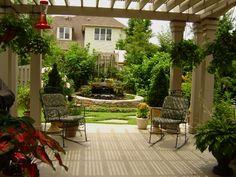 pretty idea for shade on patio