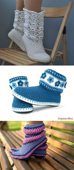 41 Ideas for crochet patterns slippers women free knitting Baby Boy Knitting Patterns, Baby Patterns, Crochet Patterns, Free Knitting, Crochet Girls, Diy Crochet, Crochet Baby, Crochet Ideas, Crochet Bikini