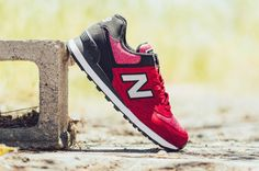 New Balance 574 Sweatshirt Red Black (1)