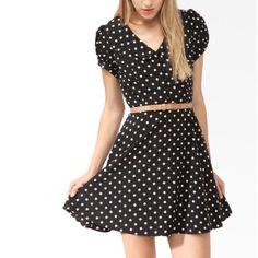 Collared Polka Dot Dress