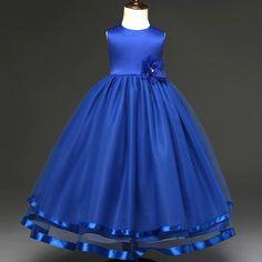 Vestidos azul rey de nina