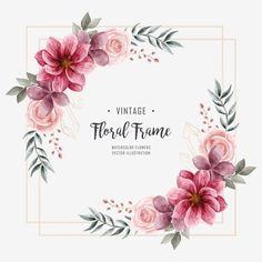 Watercolor Flower Background, Flower Background Wallpaper, Watercolor Wedding, Floral Watercolor, Wedding Background, Frame Background, Background Decoration, Illustration Blume, Flower Art Drawing