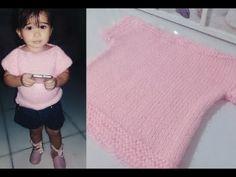 Blusa infantil em tricô (feminina) - YouTube