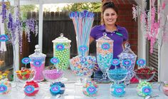 Kids Birthday Party with Candy Buffet, Baked Goods and More!