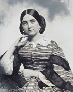8 by 10 Civil War Photo Print Beautiful Woman Wonderful Dress Snood Jewelry | eBay