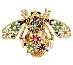 Joan Rivers Enamel Wildflower Bee Pin This is my next one! Bee Jewelry, Vintage Jewelry, Jewlery, Joan Rivers Jewelry, Bee Brooch, Bee Happy, Bees Knees, Queen Bees, Bee Keeping
