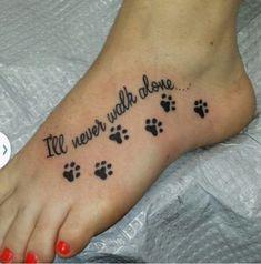 Paw print tat is part of Cute Dog tattoos Tatoo - Cute Dog tattoos Tatoo Mini Tattoos, Dog Tattoos, Animal Tattoos, Body Art Tattoos, Paw Print Tattoos, Family Tattoos, Tattoos For Pets, Tatoos, Temporary Tattoos