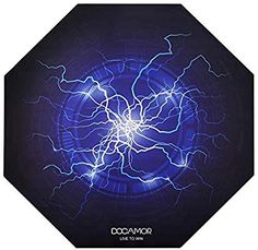 Docamor Gaming Chair Floor Mat, x Large Office Computer Chair Mat Office Chair Mat, Chair Mats, Hard Floor, Good Grips, Noise Cancelling, Gaming Chair, Floor Mats, Lightning, Hardwood Floors