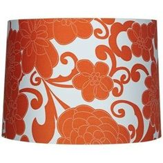 Orange Floral Drum Lamp Shade 13x14x10 (Spider) by Universal Lighting and Decor, http://www.amazon.com/dp/B00651W9VQ/ref=cm_sw_r_pi_dp_1ITjrb10BD4EC