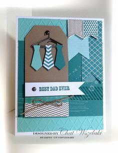 Chat Wszelaki: Me, My Stamps and I: Happy Father's Day - (Pin Masculine: Apparel/. Fathers Day Cards Handmade, Fathers Day Crafts, Happy Fathers Day, Cards For Men, Boy Cards, Card Making Templates, Retirement Cards, Masculine Cards, Best Dad