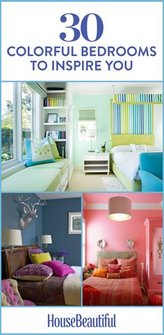 These colorful bedrooms are exactly the kind of inspiration you needed.