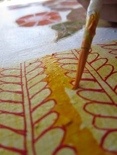 How to paint flowers on board with Acrylic and Pen and Ink: In Glasgow | ARTiful: painting demos