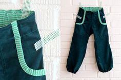 Handmade Vibeke    Bukse i grønn babykord