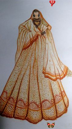 Fashion Drawing Dresses, Fashion Illustration Dresses, Dress Illustration, Indian Illustration, Fashion Illustrations, Fashion Design Books, Fashion Design Sketchbook, Fashion Design Drawings, Fashion Sketches