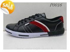 a1aaec70ddaea1 officiel polo by Ralph Lauren hommes toile cantor low shoe sport pas cher 0016  noir Chaussures Hommes Ralph Lauren