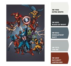 Avengers 2005 Cover – Paint colors from Chip It! by Sherwin-Williams