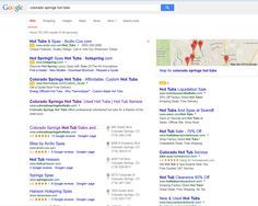 "Infront Webworks client CS Hot Tubs ranking first page of Google under term ""Colorado Springs Hot Tubs""."