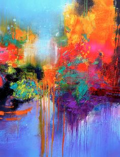 An abstract, powerful explosion of beautiful colours by Gerard Stricher. Please feast your eyes on the rest of his incredible and talented works at his website below. #gerardstricher http://gstricher.eion.me/