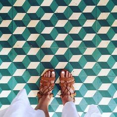 Climb Every Mountain. #ihaveathingwithfloors#ihavethisthingwithtiles#ihavethisthingwithfloors#carrelage#fromwhereistand#floor#feet#fashion#igers#instafashion#livecolorfully#green#white#geometric#lookyfeets#lookingdown#selfeet#singaporegypsy#tiles#tiletuesday#tileaddiction#viewfromthetop#picoftheday#photooftheday#hoian#colour by singaporegypsy