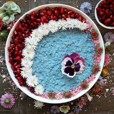 #Repost @healthnut_berlin  Today I have nothing to hide: blue millet porridge almost uncovered . And here is the recipe:  Ingredients 1.5 cup plantmilk  Pinch Bluechai Tea Powder 1 cup millet flakes  1 tbsp cream of coconut 1.5 tbsp sweetener of choice  4 tbsp pomegranate seeds  2 tbsp frozen lingonberries  edible flowers  Bring plantmilk with blue tea powder to the boil. Remove from heat and add millet flakes. Cover and allow to rest for 5 minutes. Heat cream of coconut and add to your…