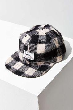 Woolrich Plaid Wool Baseball Hat