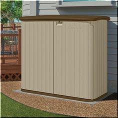 Outdoor Storage Shed Plastic Garden Tools Organizer Backyard 5u0027x3u0027 2 Doors