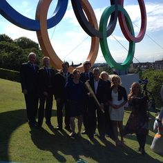 2012 Olympic Rings set up on the Mound in Edinburgh