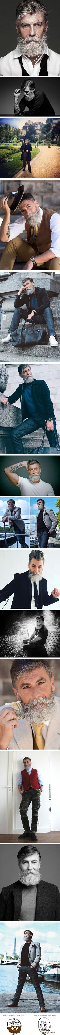 60-Year-Old Man Becomes A Fashion Model After Growing A Beard