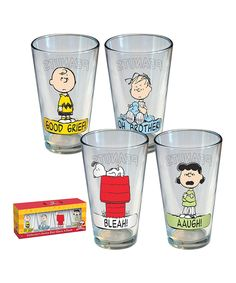 Love this Peanuts Exclamations Pint Glass Set by Peanuts on #zulily! #zulilyfinds