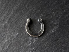 JUST IN: tribal rocker faux septum captive sterling silver nose ring | gugma jewelry