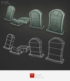 cemetery low poly - Buscar con Google