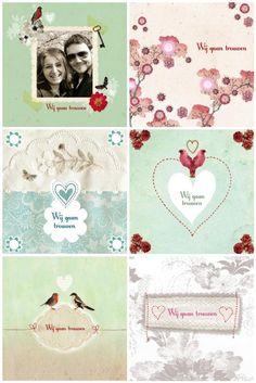 pimpelmees trouwkaarten