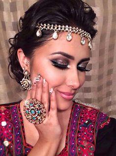 Afghan Wedding Makeup ~ dress your face