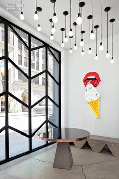 DROP LIGHTS interiordesignmagazine:  When the tech and media company Black Ocean acquired a four-story, 6,500-square-foot firehouse in New York, Rafael ...