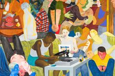 By Nicole Eisenmann Another Green World, Pop Art Illustration, Whitney Museum, Square Art, New Artists, American Artists, Figurative Art, Art World, Art Sketches