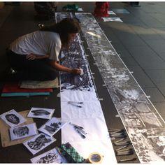 Artist on the sidewalk in Syney, NSW - Australia