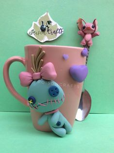 Fimo Clay, Polymer Clay Projects, Clay Cats, Biscuit, Pasta Flexible, Cold Porcelain, Lily, Stitch, Mugs