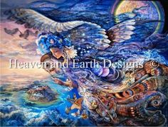 Queen of The Night - Painting by Josephine Wall.  Chart design by Michele Sayetta for Heaven and Earth Designs.