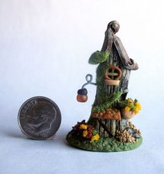 Handmade Miniature FAIRY WHIMSY OLD TREE STUMP COTTAGE HOUSE - OOAK by C. Rohal #CRohal