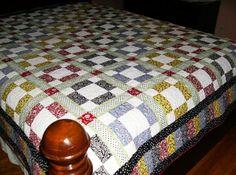 Garden Delight Patchwork Queen Quilt by madeinUSAbyLinda on Etsy, $375.00