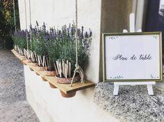 Un plan de table dans des lavandes, ça sent bon la Provence