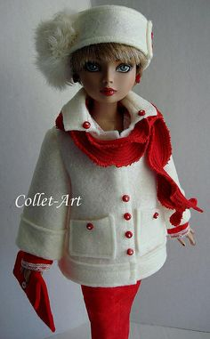 "2013 Tonner Wilde Imagination Ellowyne Wilde Pridence Amber Lizette Imperium Park OOAK Fashion Retro ""Christmas Shopping to Entertaining"" Co..."