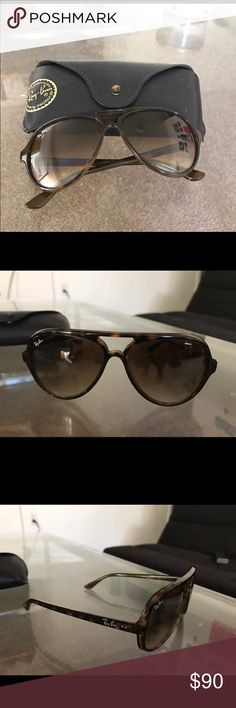 Ray Ban Cara 5000 Sunglasses Light Havana tortoise shell frame with a crystal brown gradient lens Ray-Ban Accessories Sunglasses