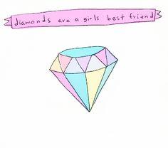 diamonds are a girls best friend Simple Lines, Simple Art, Diamond Are A Girls Best Friend, My Best Friend, I Tattoo, Cool Tattoos, Tatoos, Friends Illustration, Diamond Tattoos