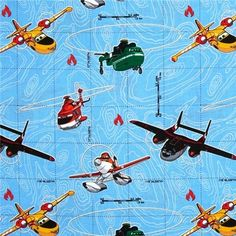 Disney Planes Fire And Rescue Dusty And Friends ~ 4my3boyz Fabulous Fabrics  By The Fat Quarter
