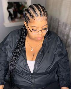 Two Cornrow Braids, Small Cornrows, Cornrow Braid Styles, Cornrow Ponytail, Twist Cornrows, Box Braids, Dutch Braids, Plaits, Canerow Hairstyles