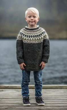 boys kids icelandic sweater, photo from guadalupelaiz, lopi knitting pattern, fuzzy fluffy childs childrens lopapeysa nordic Boys Sweaters, Winter Sweaters, Men Sweater, Family History Book, Icelandic Sweaters, Fair Isle Knitting Patterns, Winter Gear, Knitting For Kids, Kids Boys