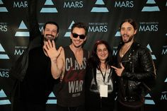 Mars Angel finally meets her 3 Mars men & gets the Leto sandwich she's been dying for.:)) The most wonderful day of my life <3