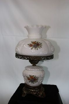 Fenton Gone with The Wind Lamp Satin Rose Glass Vintage | eBay